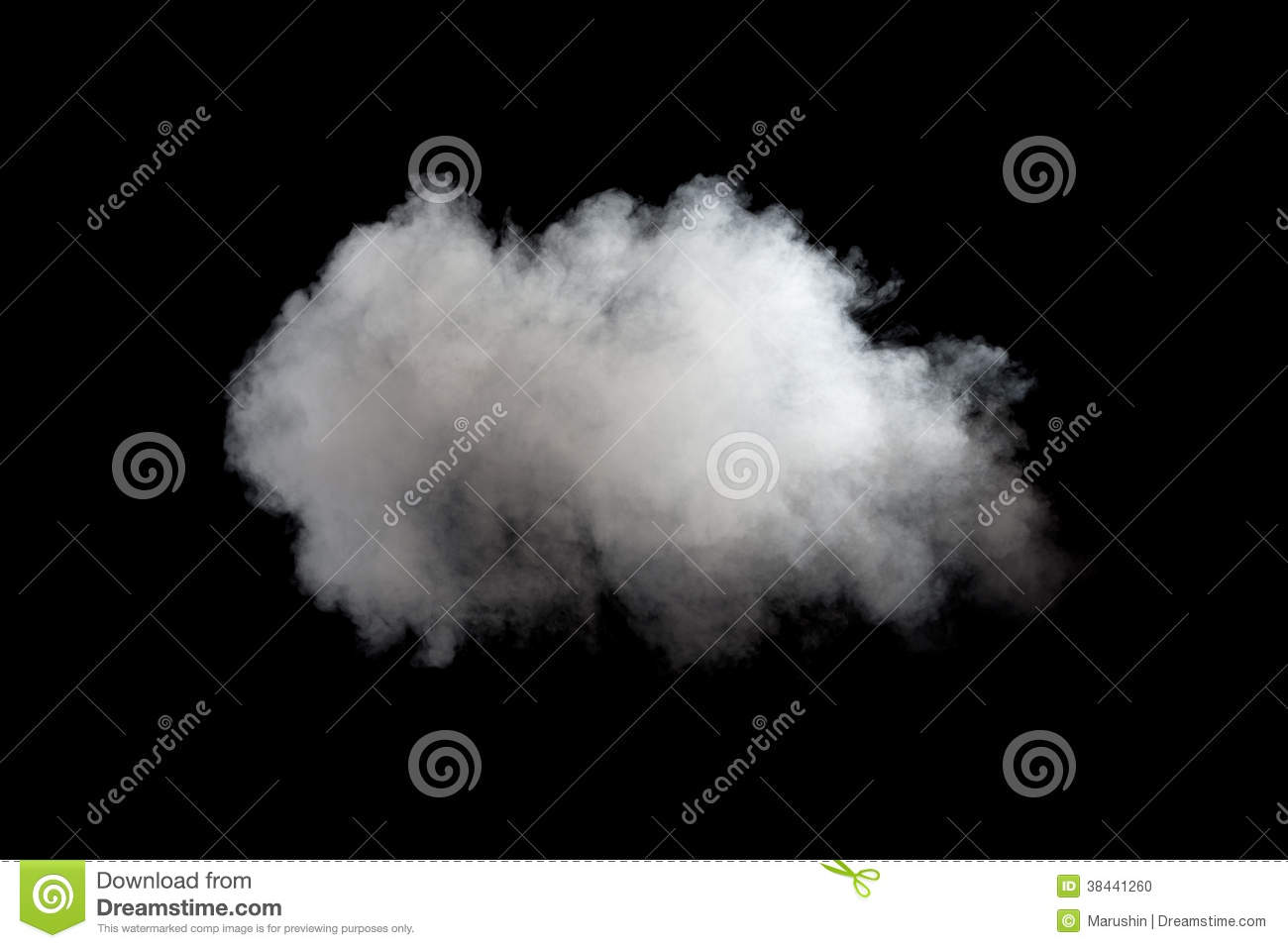 White Smoke On Black Background Stock Photo - Image: 38441260