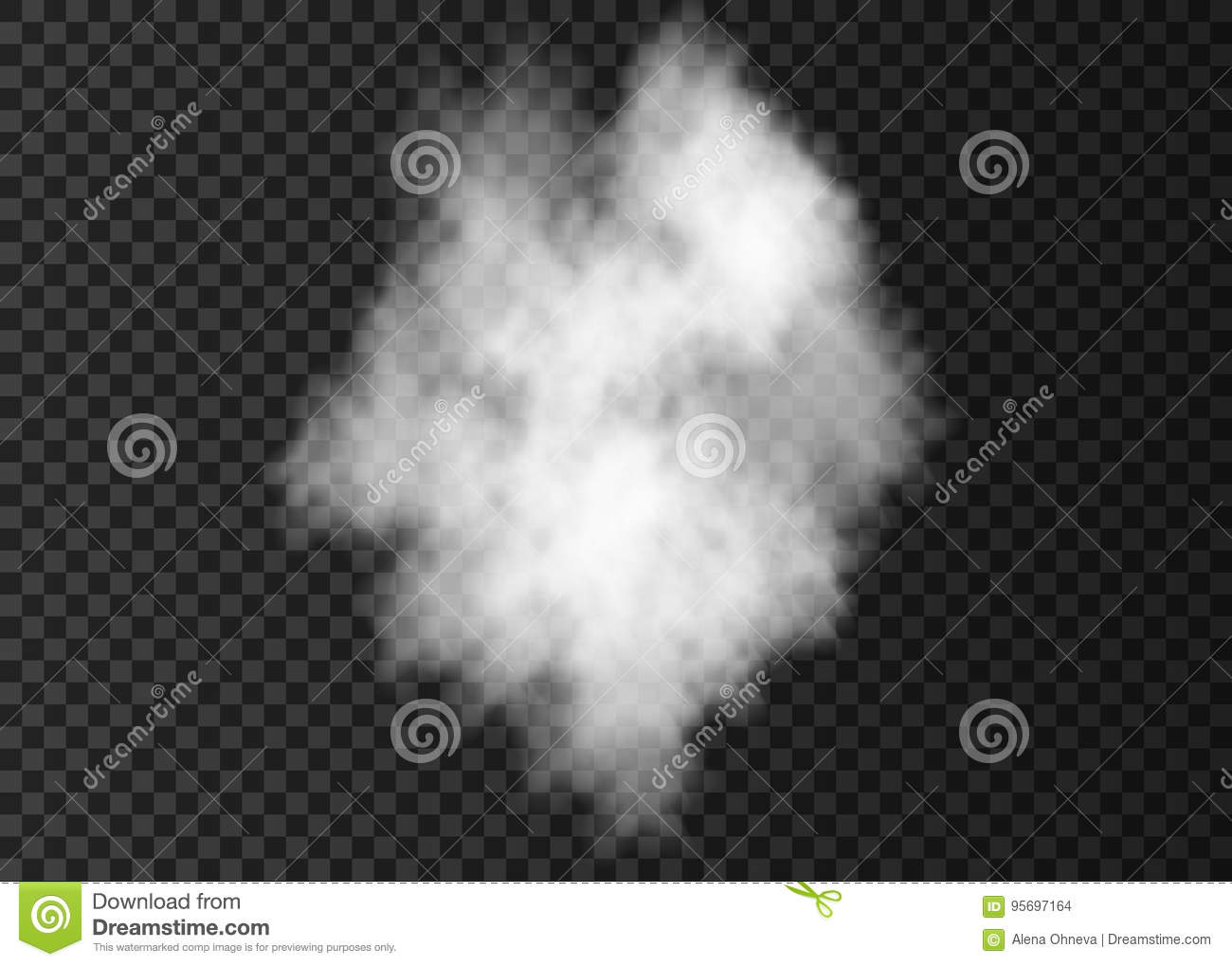 White Smoke Bomb Effect Isolated On Transparent Background  Stock