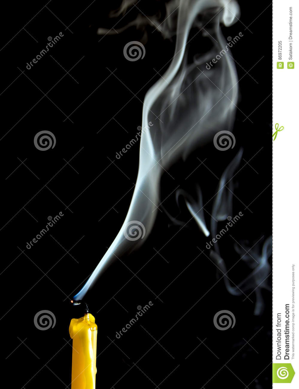 White smoke when the candle goes out