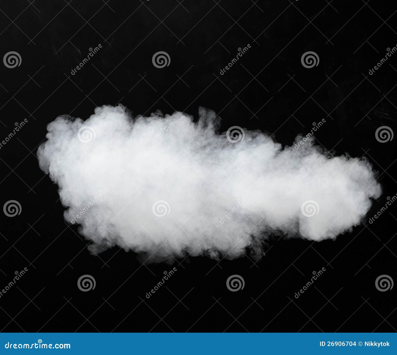 White smoke cloud