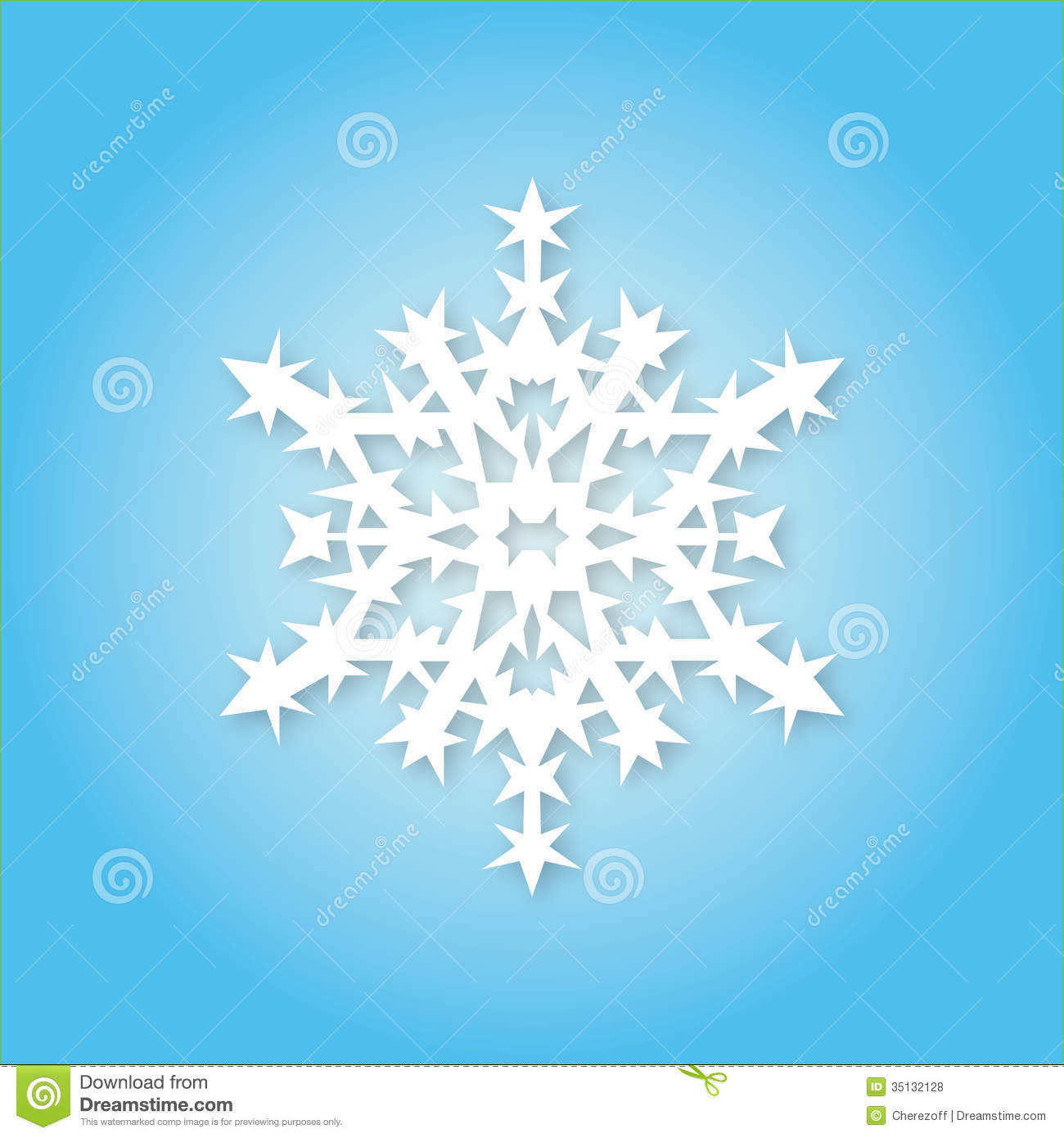 White Snowflake On Blue Background Royalty Free Stock ...