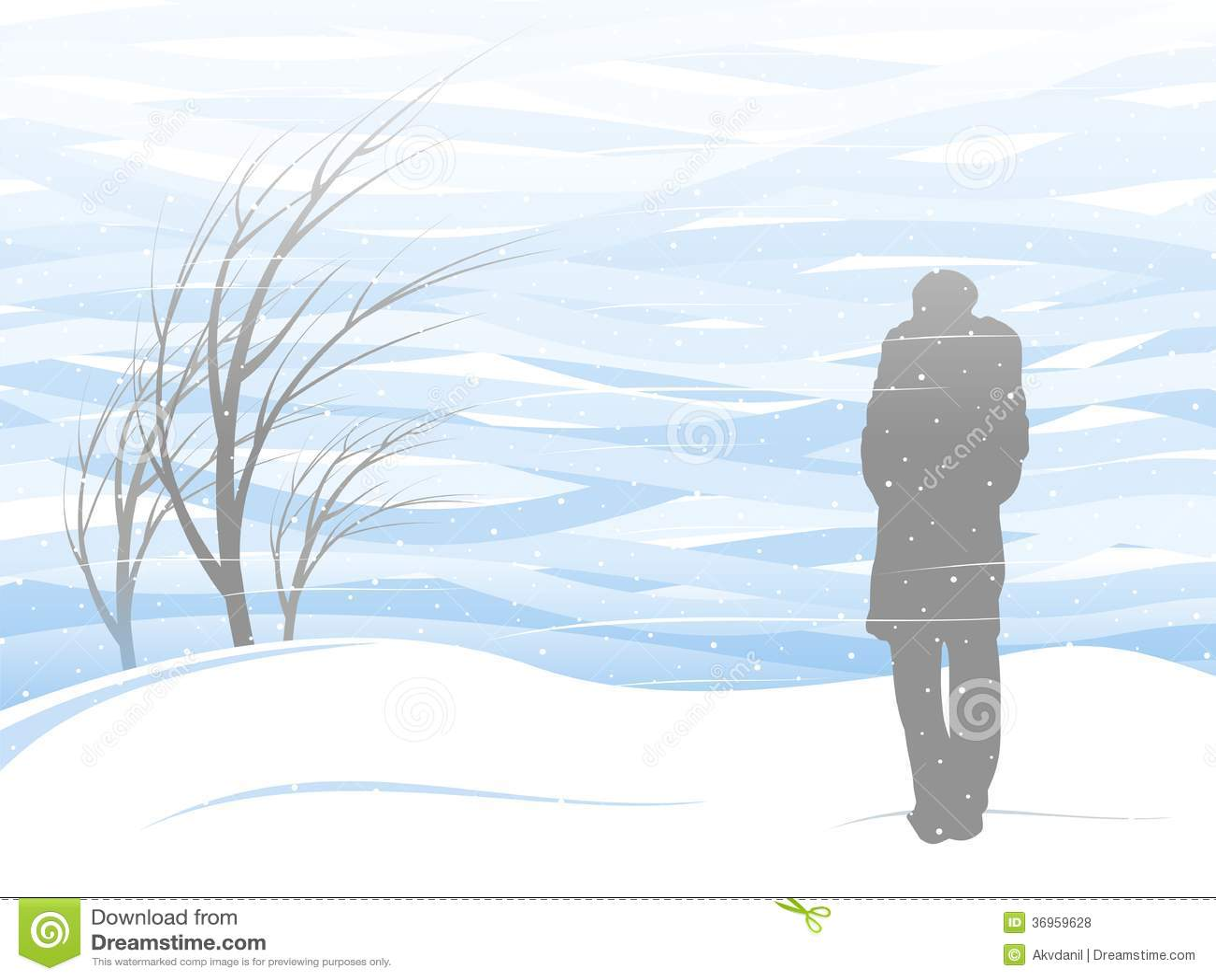 White snowstorm