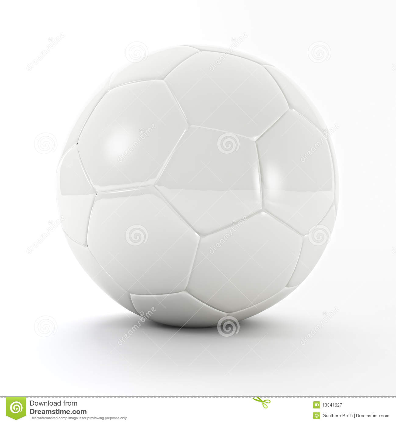 white soccer ball royalty free stock photography