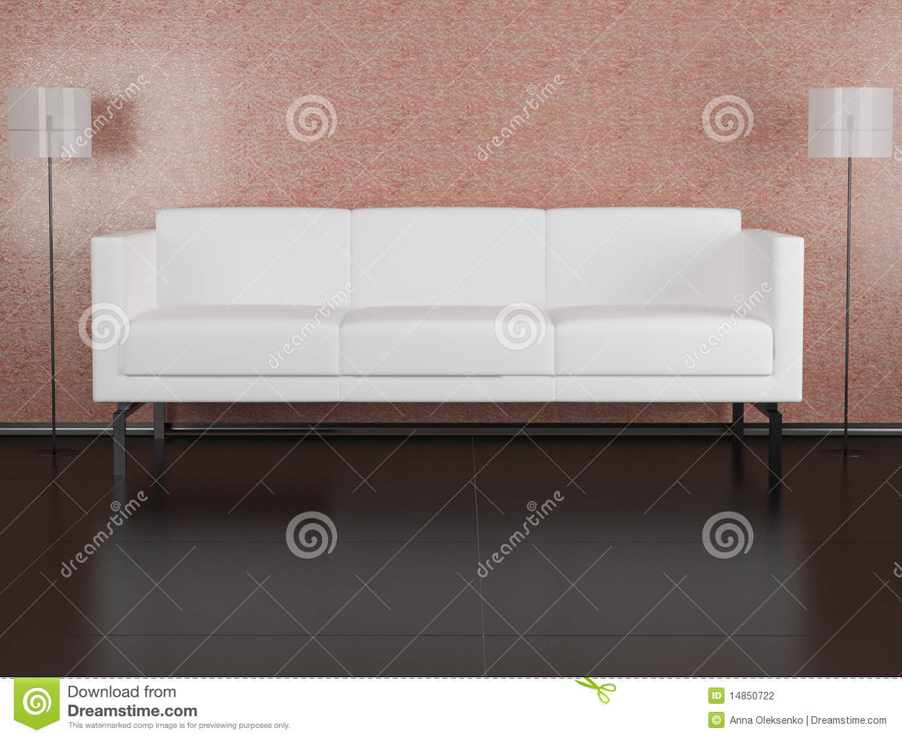 White sofa in the room