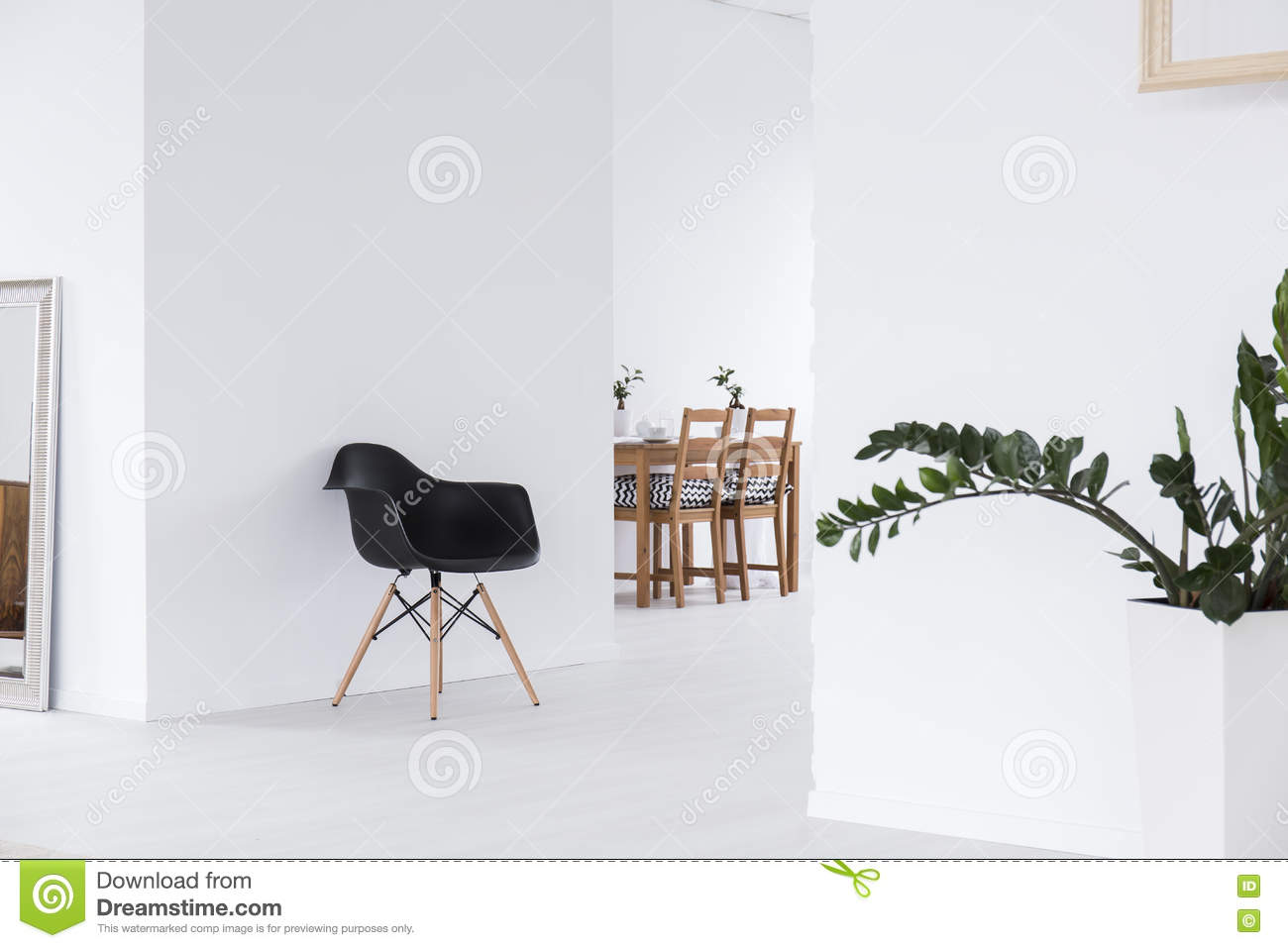 White Space In Minimalist House Stock Photo Image Of Interior