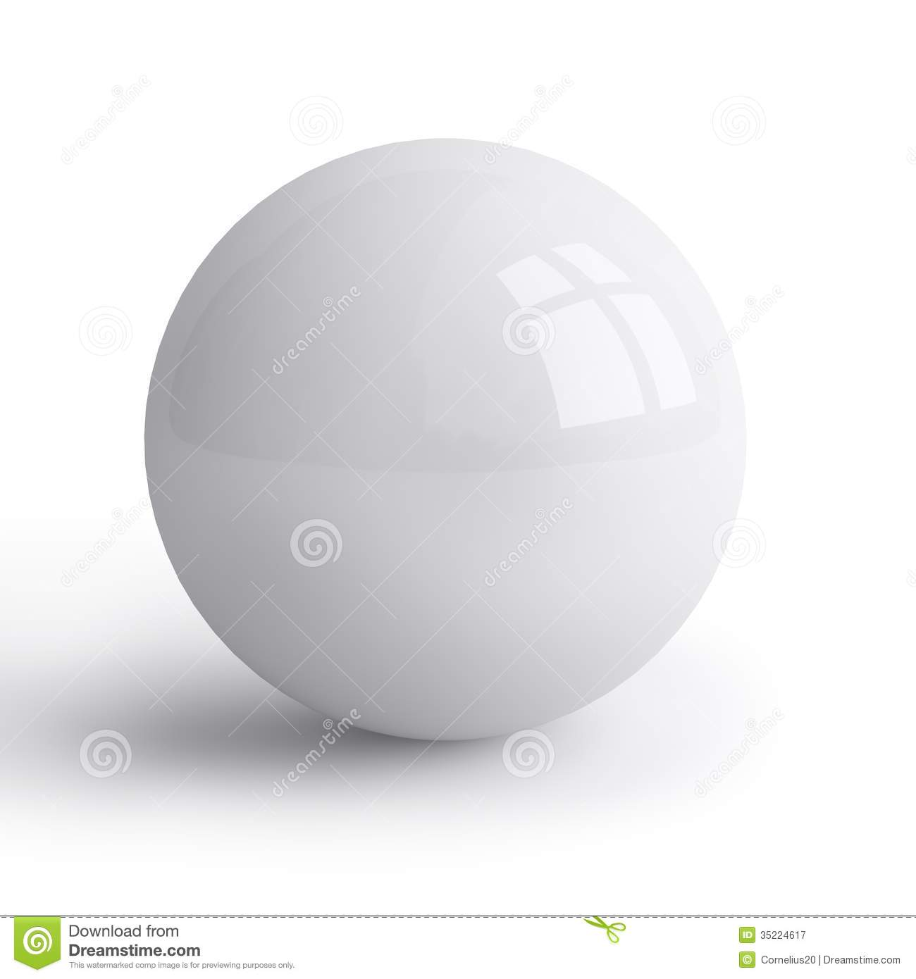 White Sphere Royalty Free Stock Photography Image 35224617