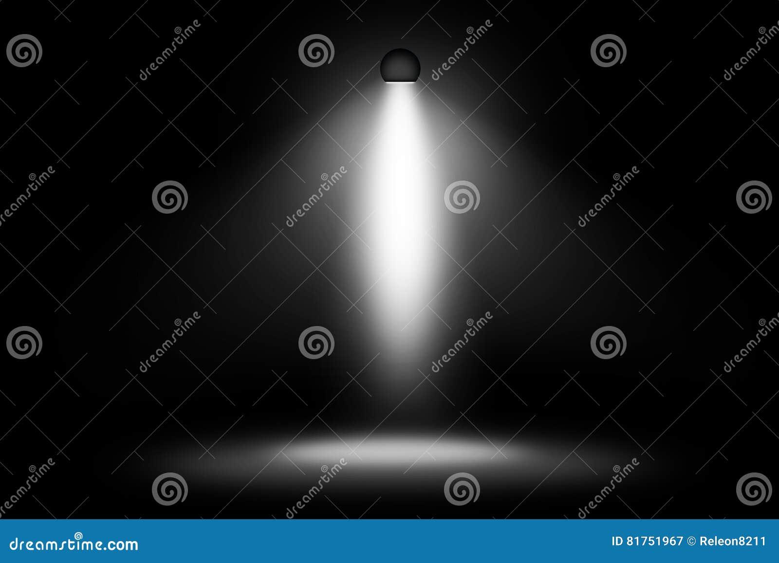 White spotlight design background stock illustration for Spotlight design