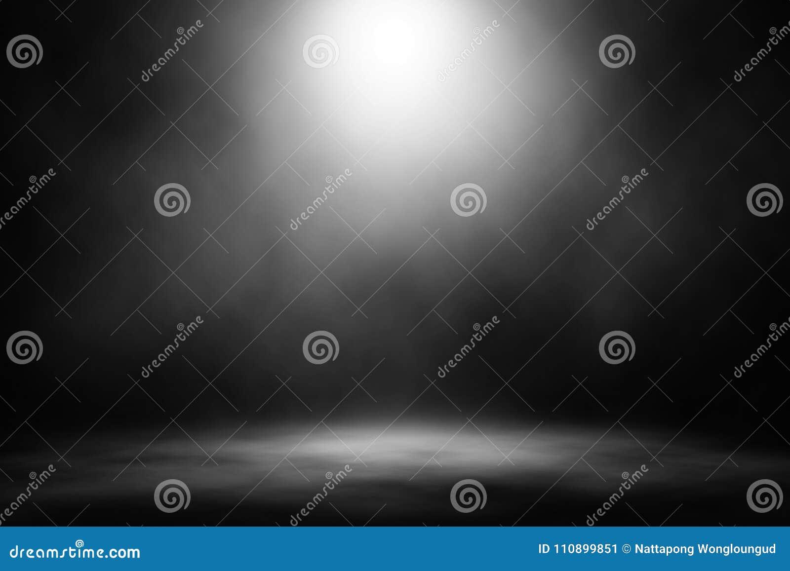 White spotlight smoke stage entertainment background.