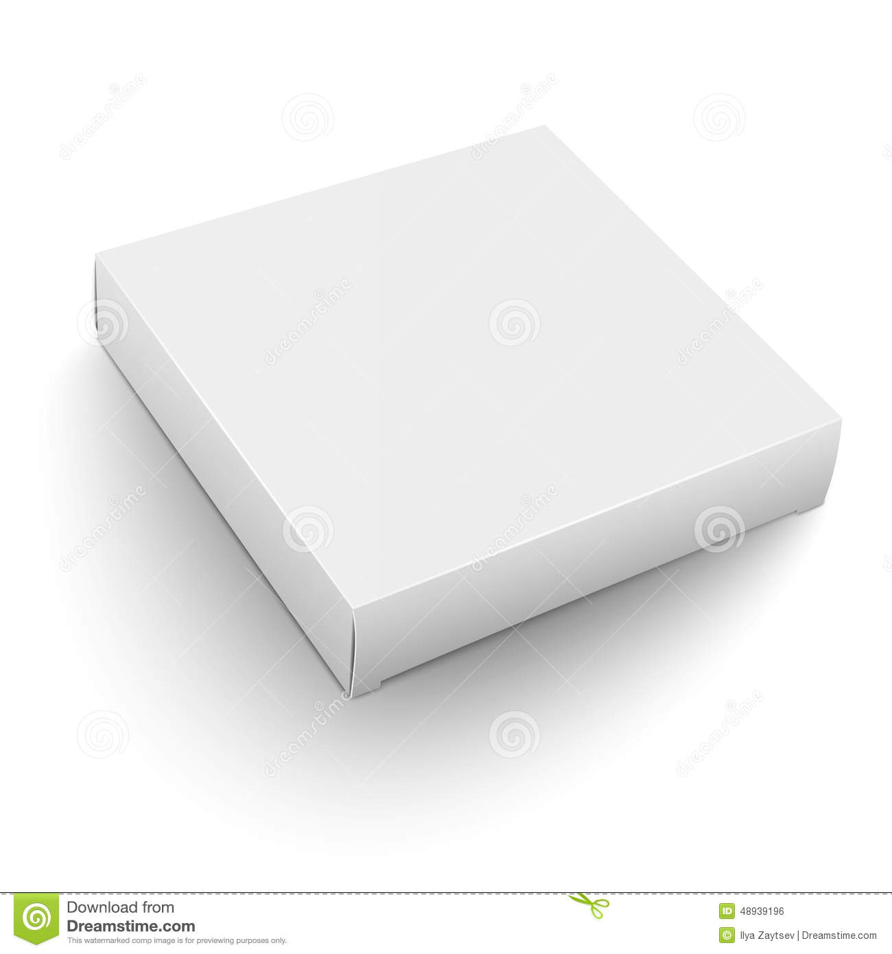 white square box template stock vector illustration of container