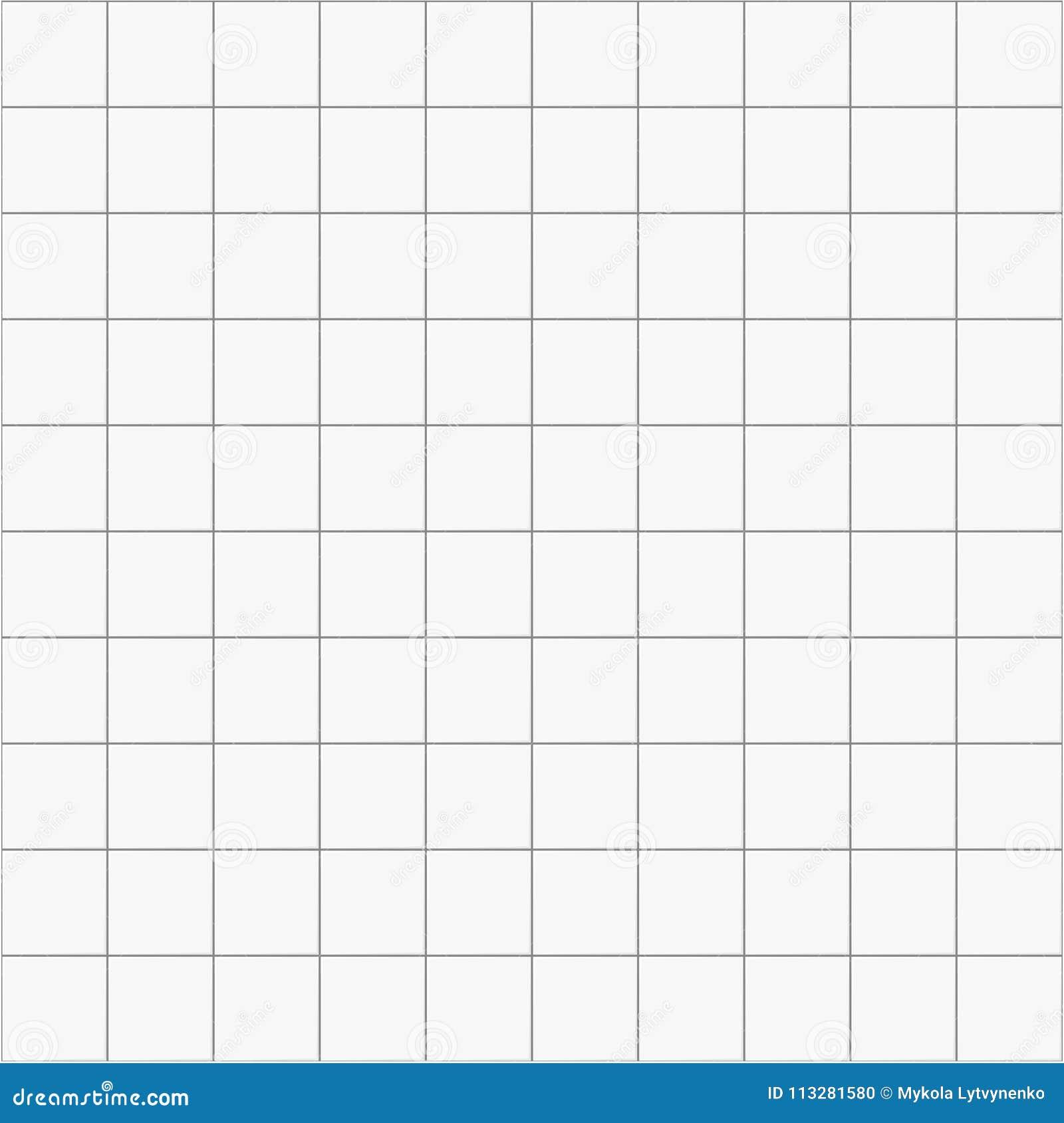 White Square Ceramic Seamless Pattern Background, Vector Tile For ...