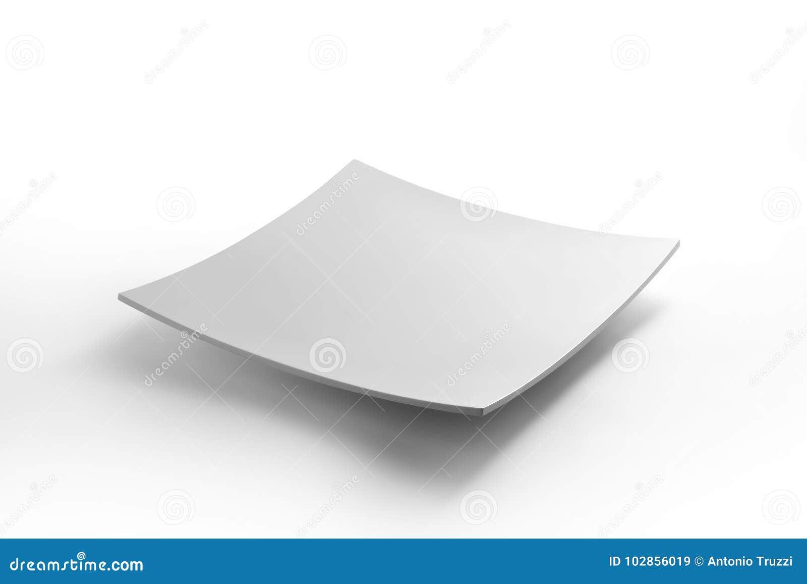 White square dish