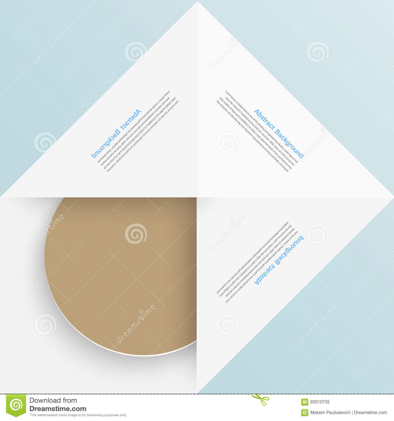 White square paper and origami stock illustration illustration white square paper and origami letterhead abstract jeuxipadfo Image collections