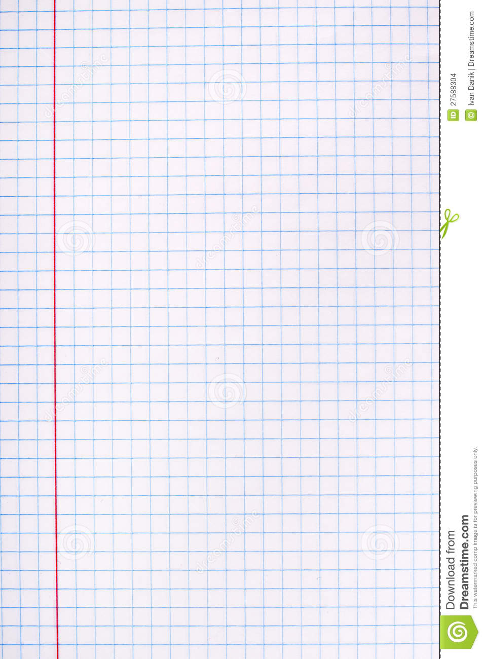 White squared paper sheet stock photo. Image of line