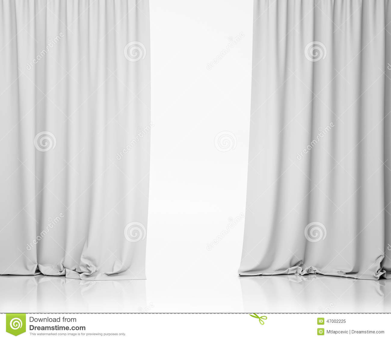 white stage curtain  background stock illustration