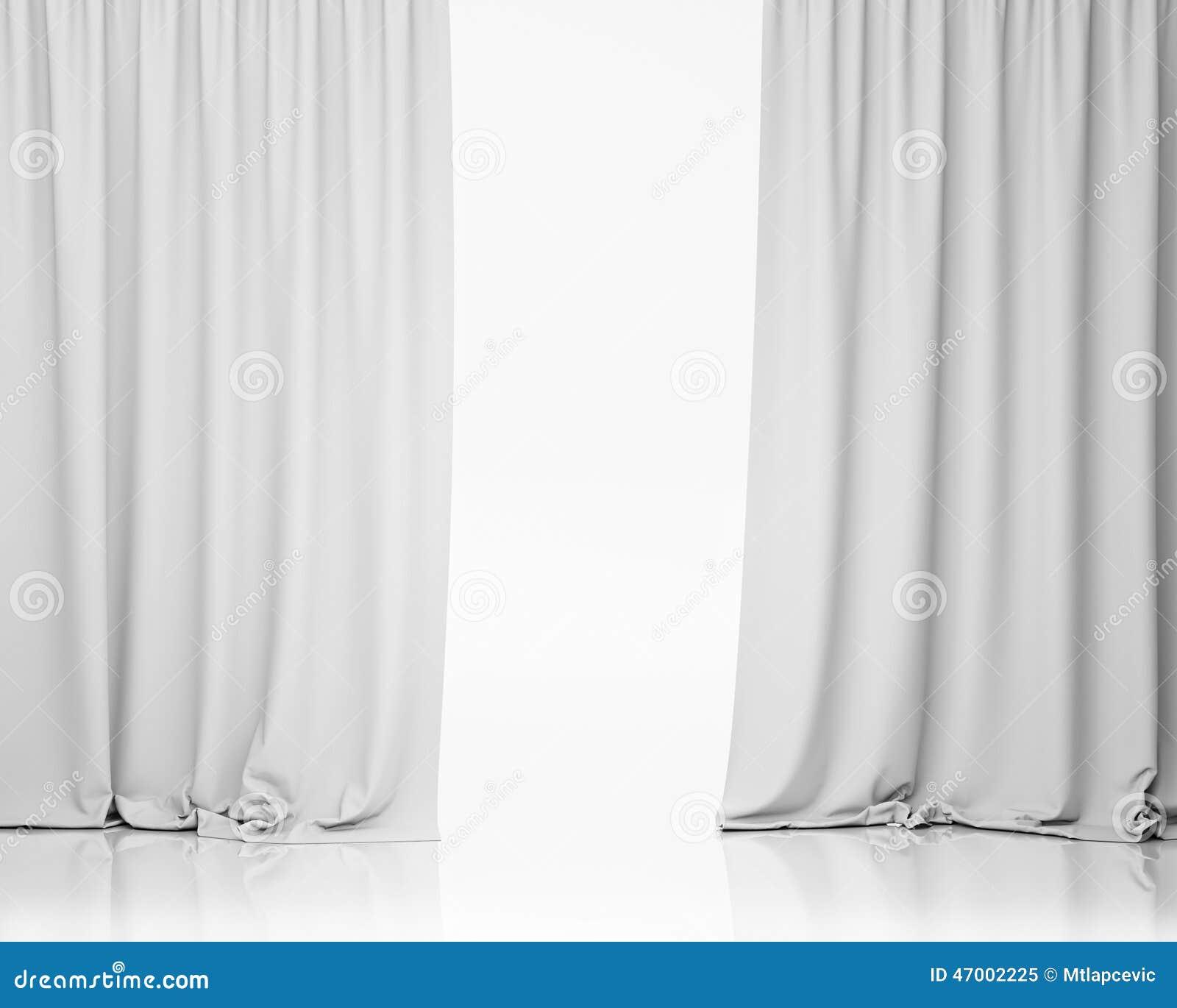 White stage curtain background stock illustration image 47002225
