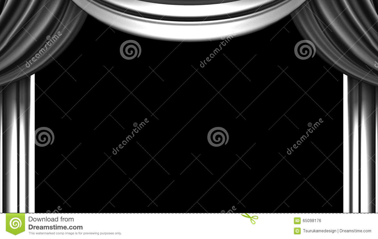 Black and white stage curtain - White Stage Curtain On Black Background Stock Footage Video 65098176