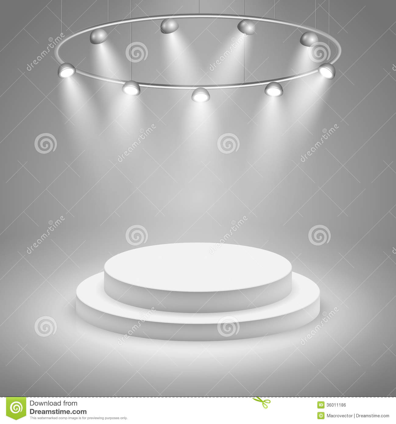 white stage with spotlight stock vector  illustration of