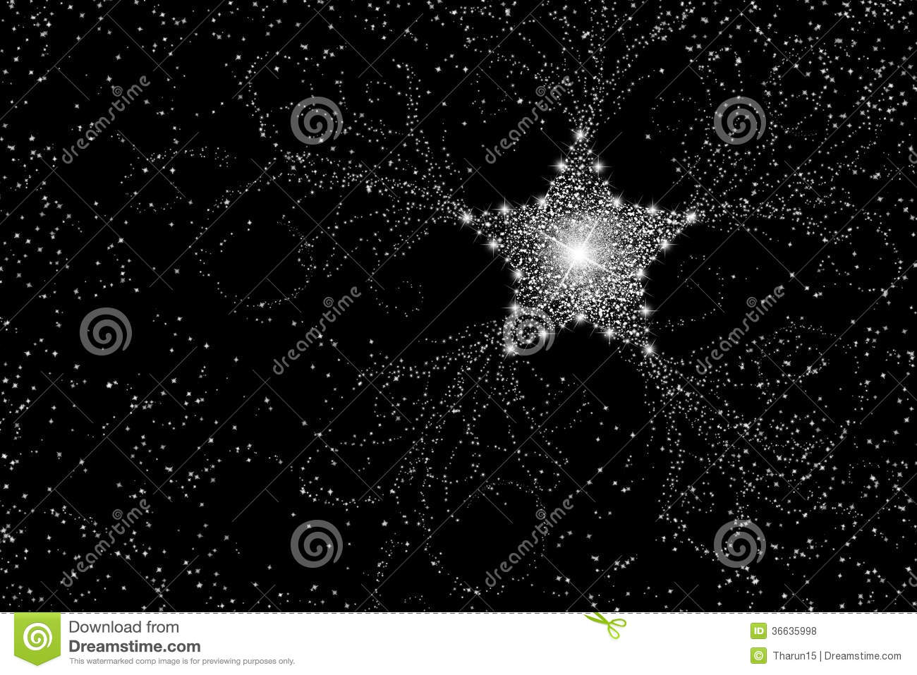 White Star Speckled Sky Royalty Free Stock Photos - Image: 36635998