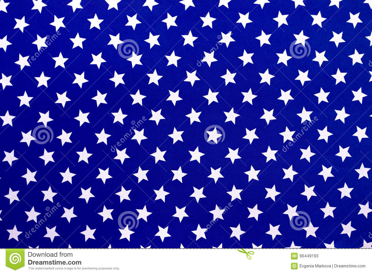 White Stars On A Blue Background Stock Image
