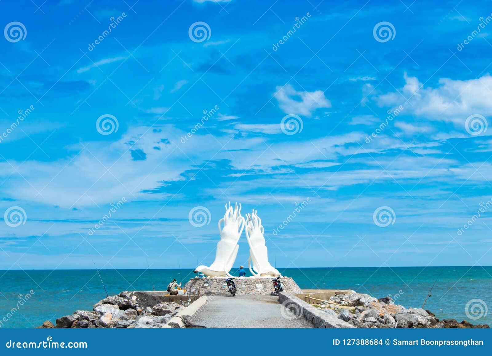 White Statue Squid And Sea Stock Photo Image Of Bali Croatia