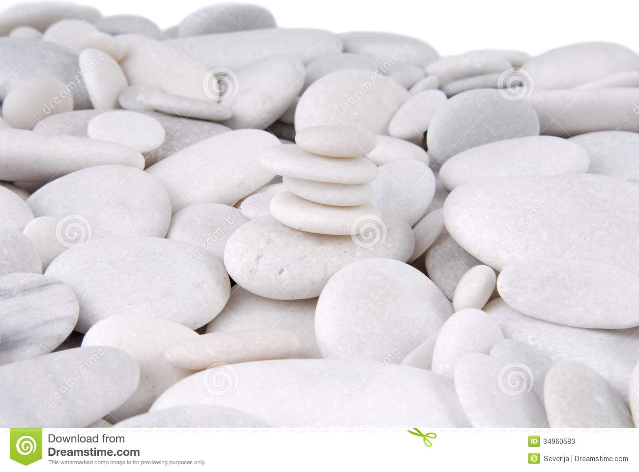 White Stone Pebbles Stock Image Of Calm Concept