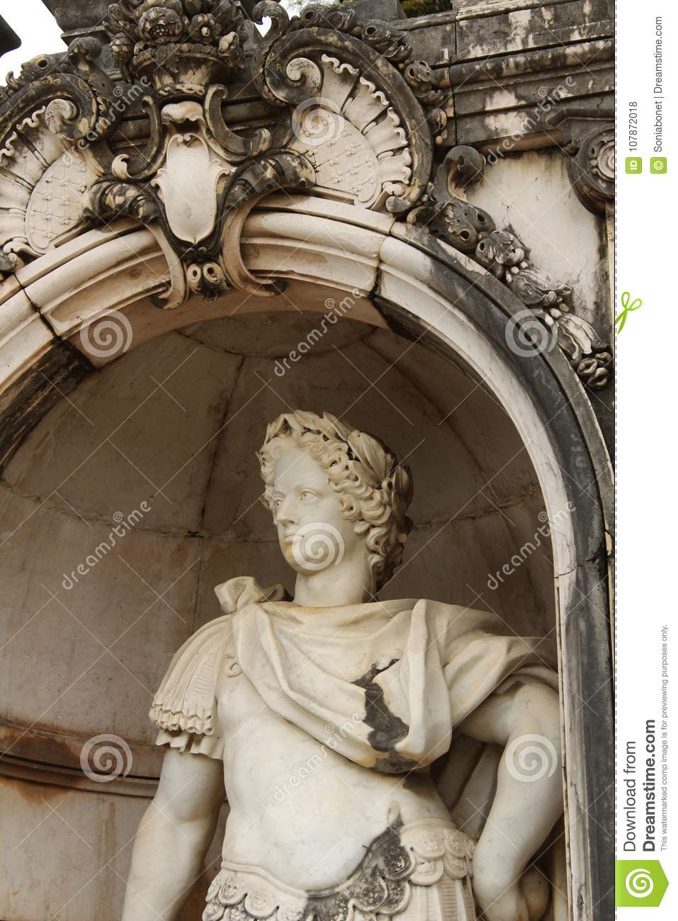 White Stone Statue In The Garden Stock Photo Image Of Antique