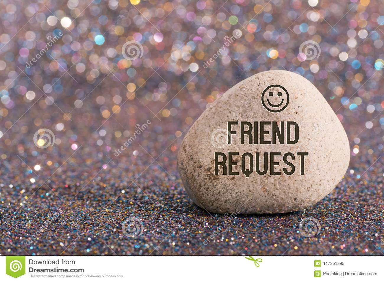 Friend request on stone