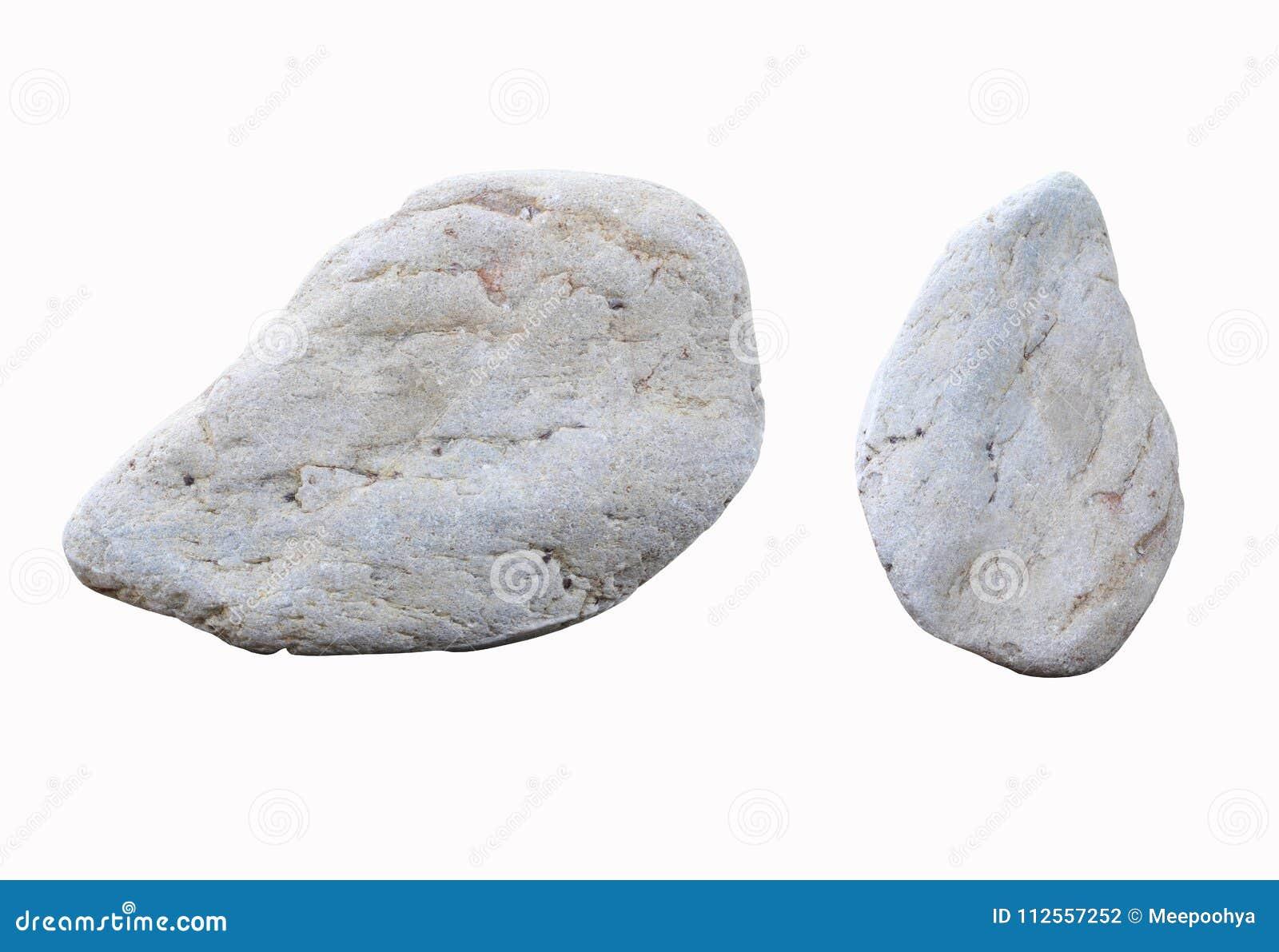 White Stones Isolated On White Background Stock Photo
