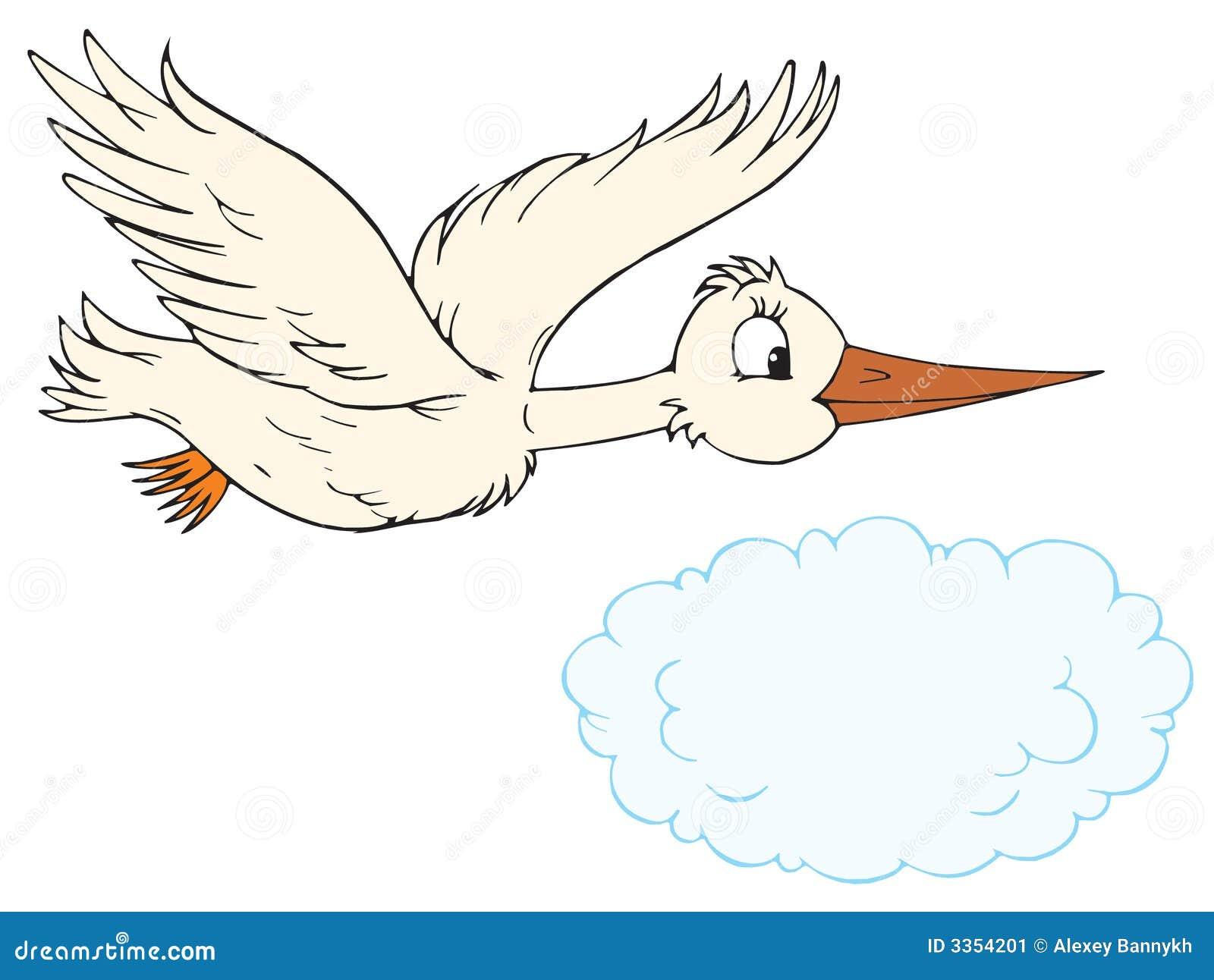 Children Reading Stock Vector Art More Images Of Baby: White Stork (vector Clip-art) Stock Image