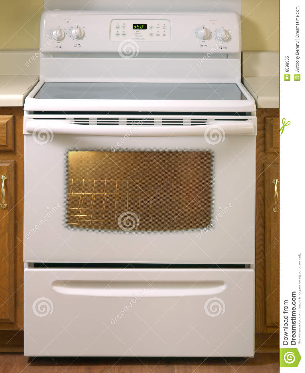 White Stove Front View Stock Image Image Of Design Cook