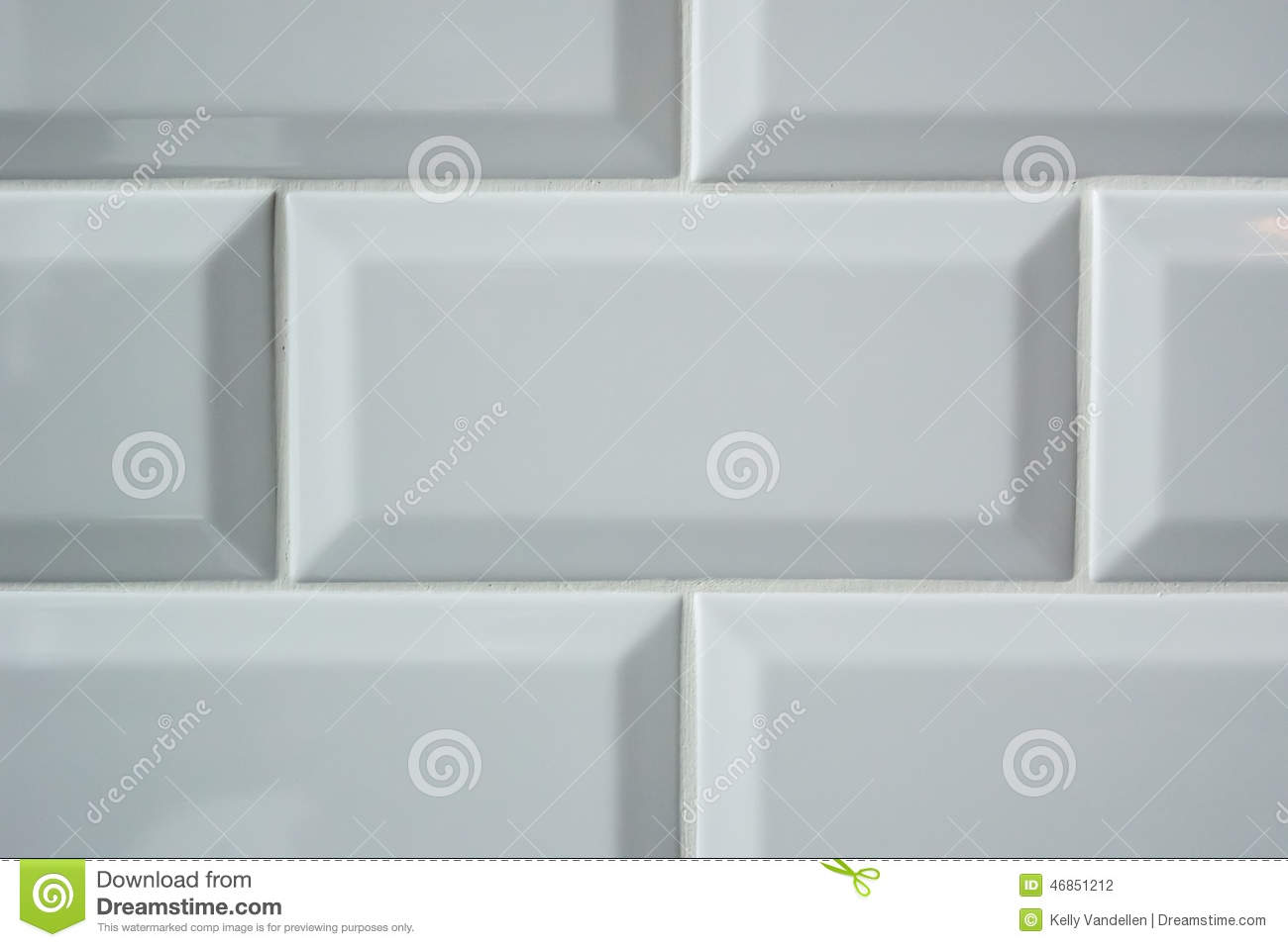 White Subway Tile Background Stock Photo Image 46851212