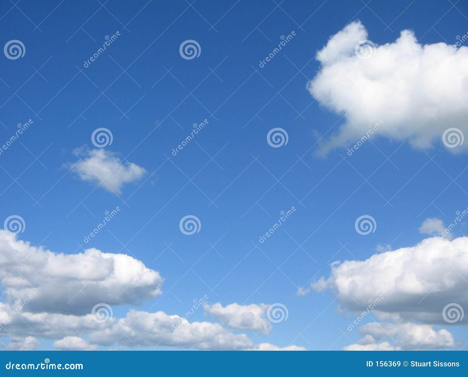 White summer clouds