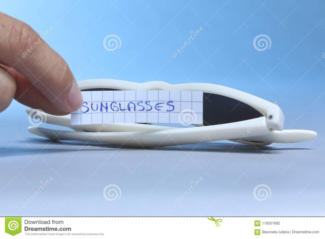 Sunglasses, white background