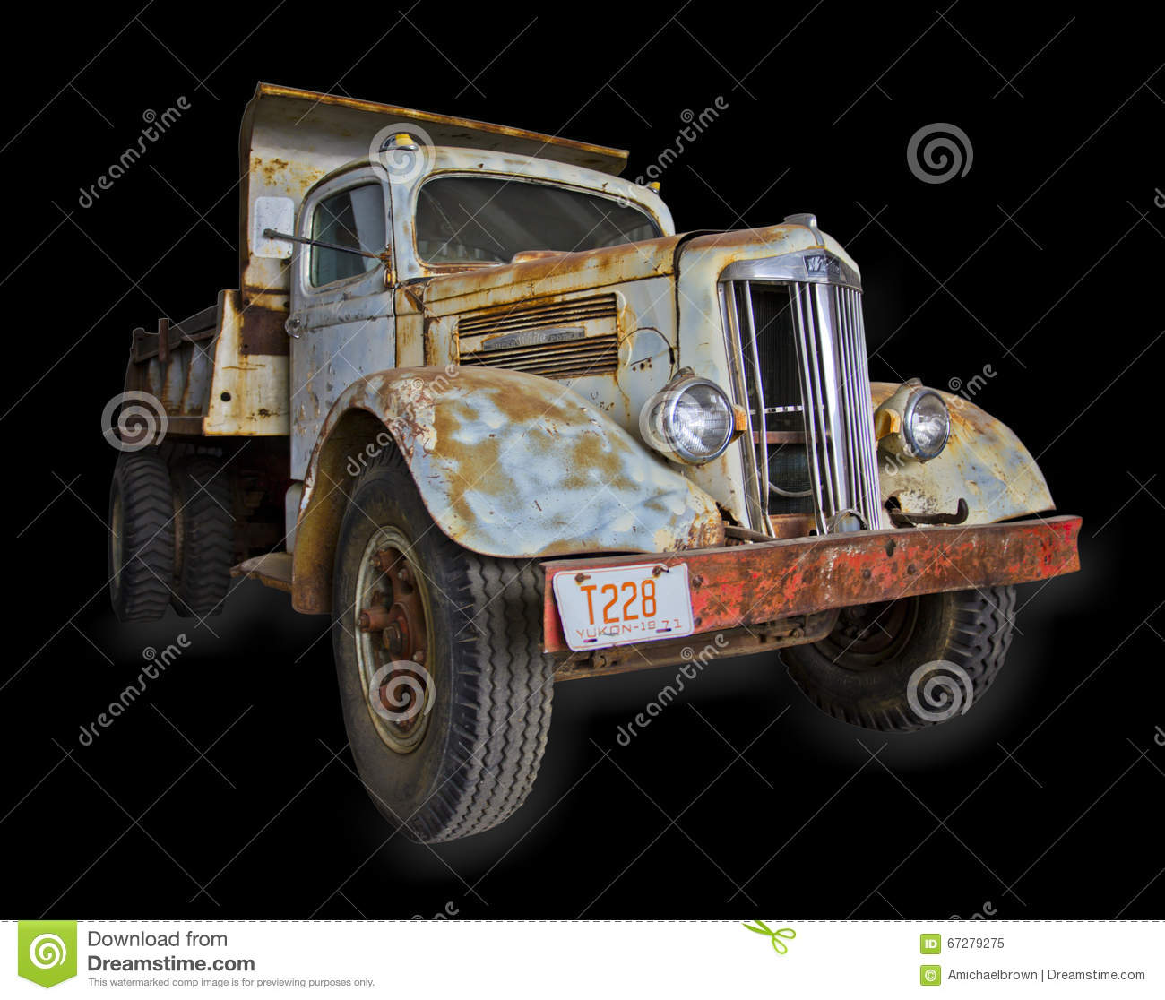 White super power truck isolated editorial image image for White motor company trucks