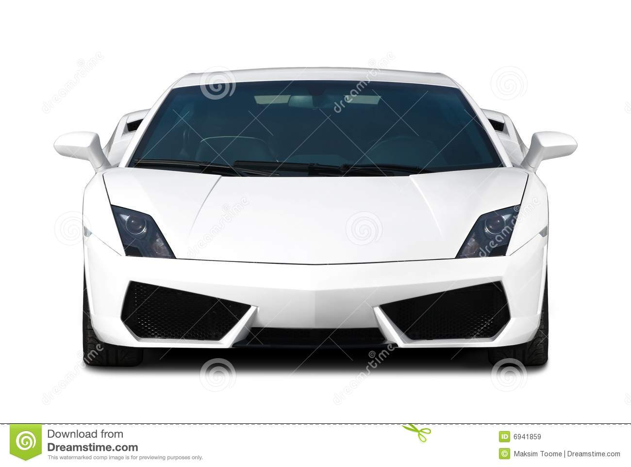 White Supercar Front View Royalty Free Stock Images Image