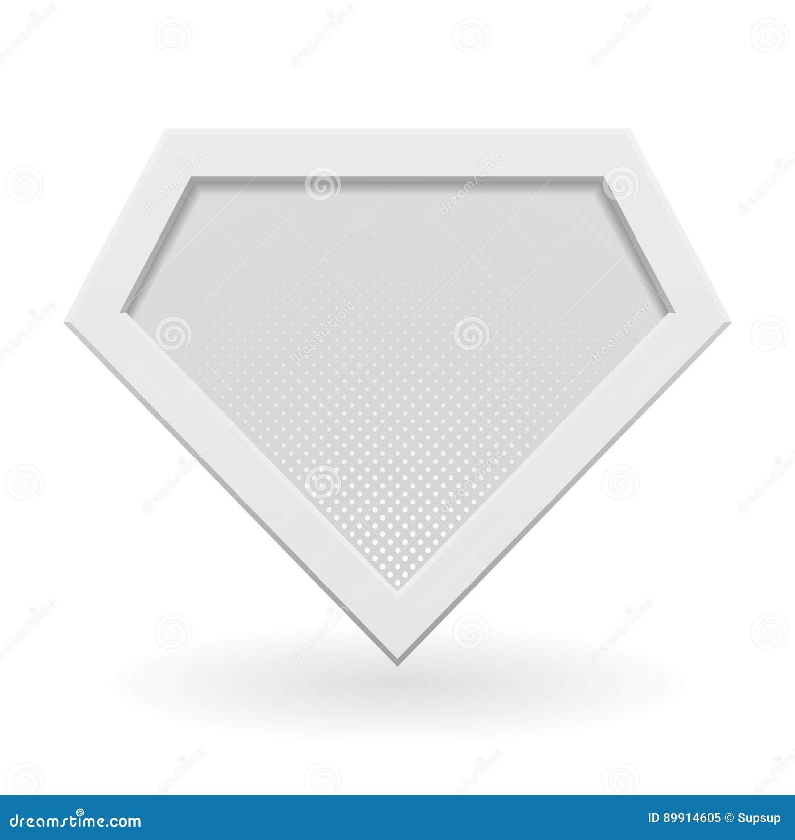 white superhero logo template stock vector illustration of