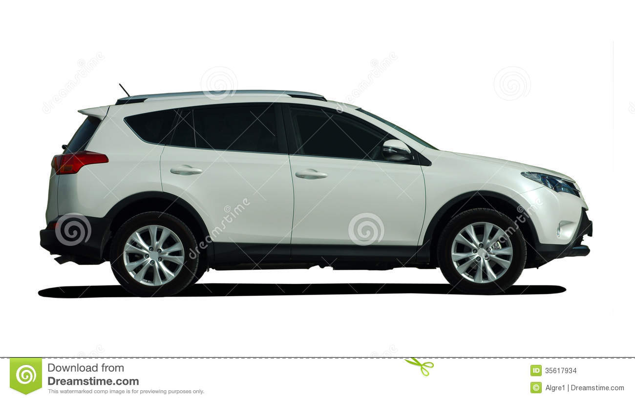 White Suv Side View Stock Images Image 35617934