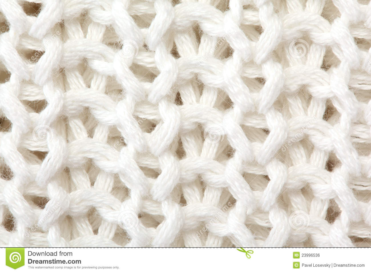 White sweater knitted texture close up