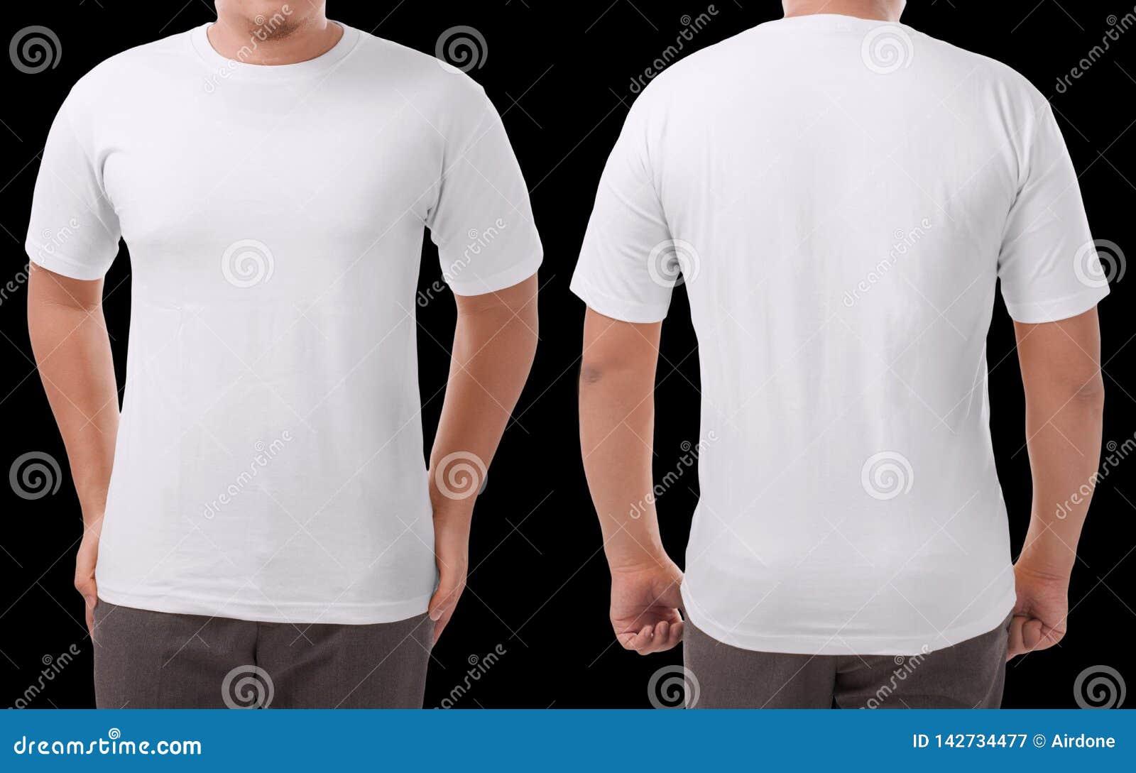 White Shirt Design Template Stock Image Image Of Dress Model
