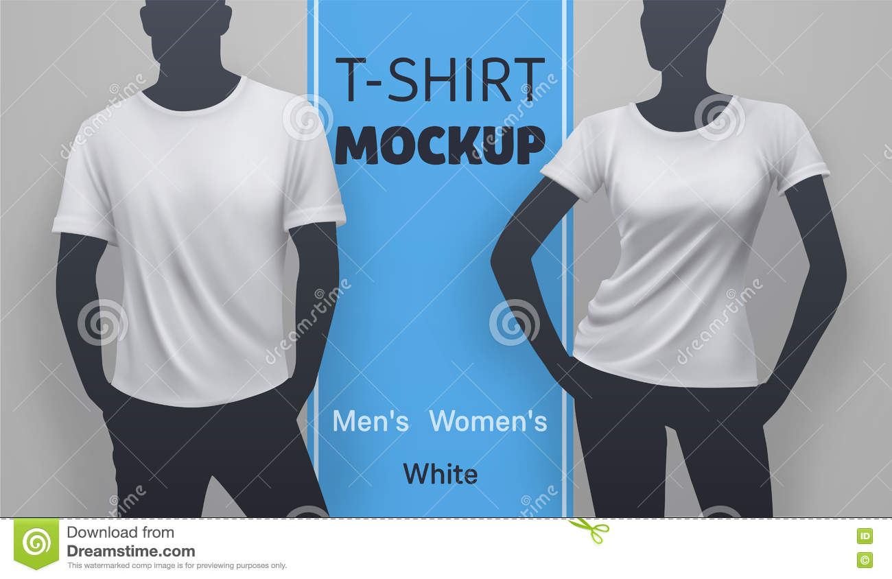 White t shirt mockup stock vector illustration of for White t shirt mockup
