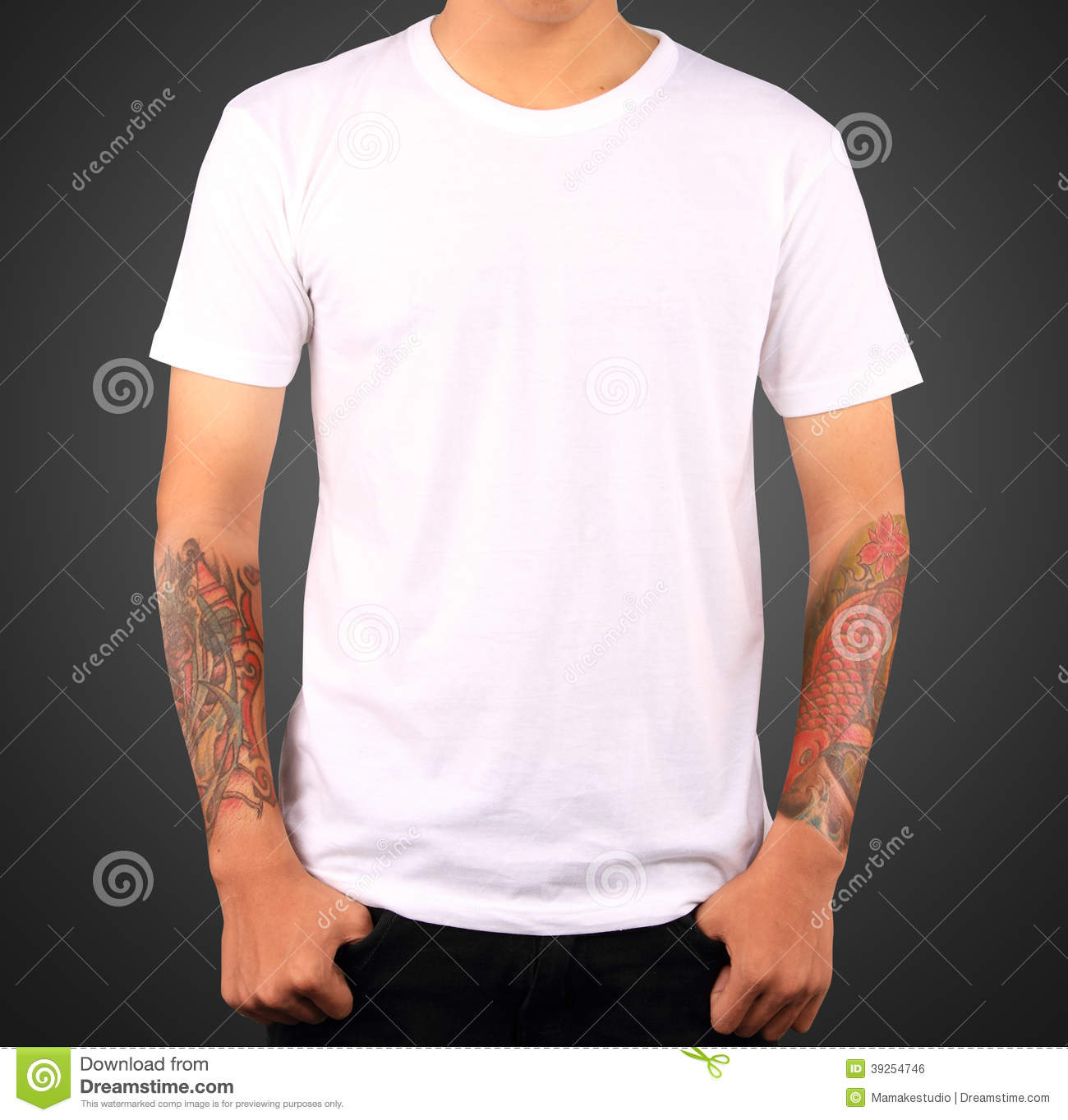 White T Shirt Template Stock Photo Image Of Cute Front 39254746