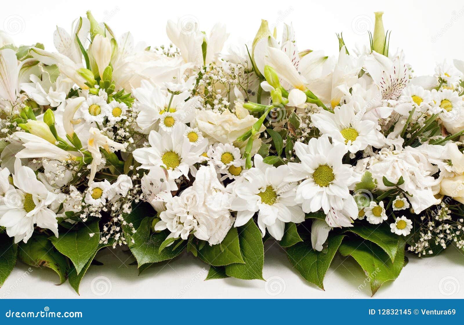 White Table Flower Decoration Royalty Free Stock Photo - Image ...