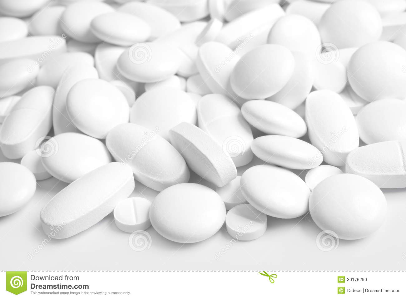 white tablets and pills stock photo image 30176290