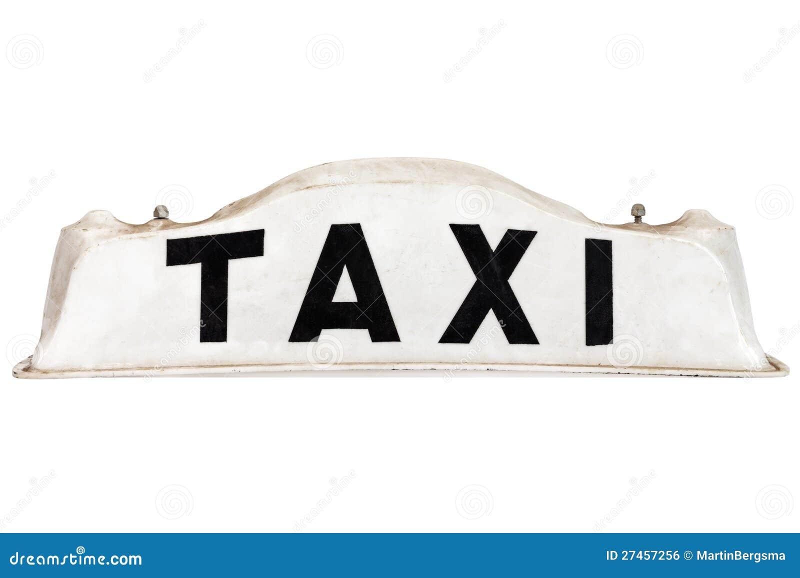 White taxar taktecknet som isoleras på white