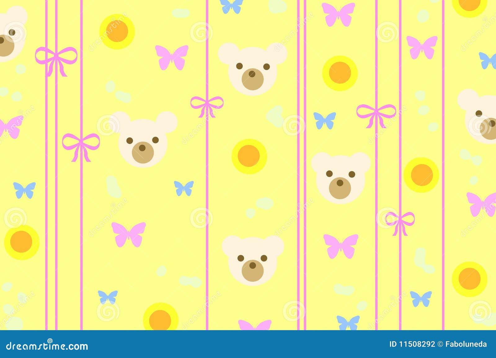 White Teddy Bear Wallpaper