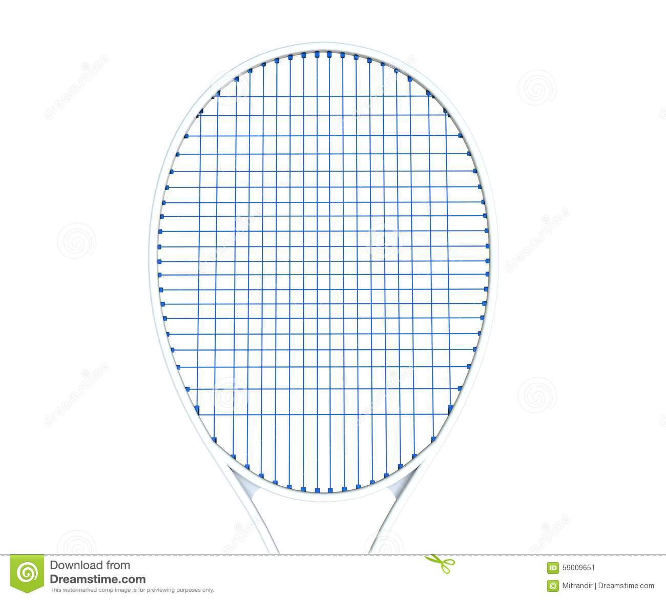 Enjoyable White Tennis Racquet With Blue Strings Stock Illustration Wiring Cloud Intapioscosaoduqqnet