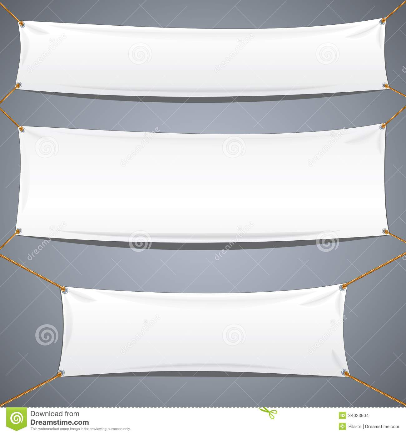 white textile banners vector advertising template stock