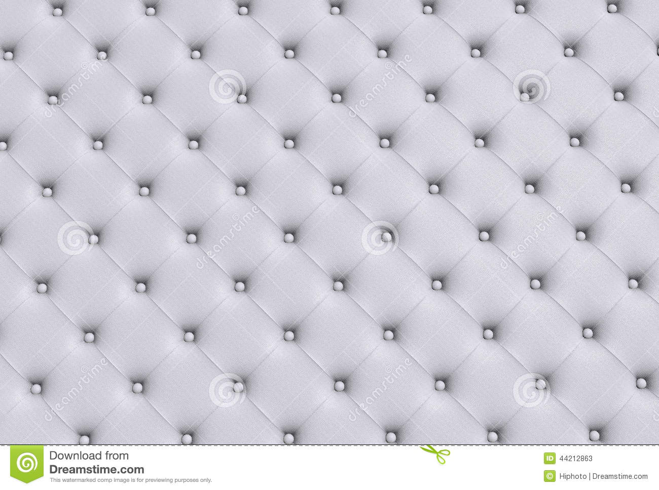 The White Texture Of The Skin Quilted Sofa Stock Image