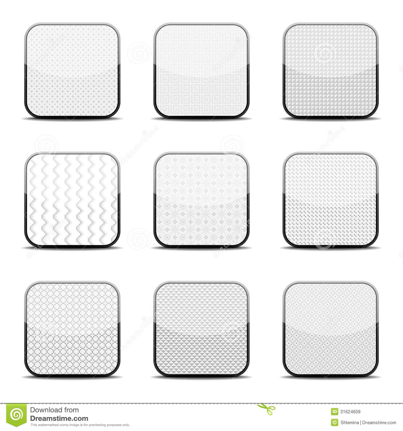 White Textured Icon Templates Stock Vector - Illustration of ...