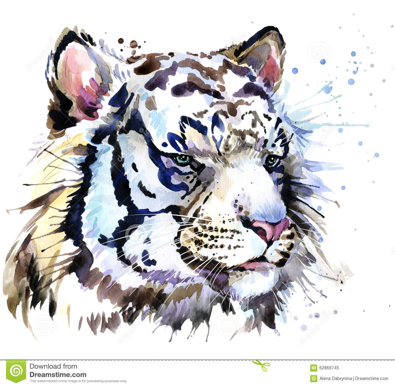 How To Paint A White Tiger Silouette